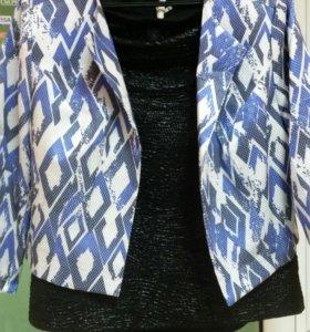 Пиджак с юбкой шикарный
