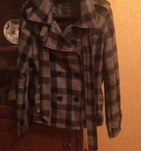Легкое пальто-пиджак, шерсть