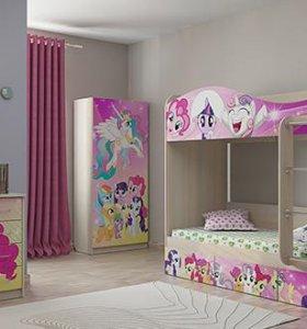 """Детский комплект для спальни """"Пони"""""""