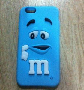 Силиконовый чехол для iPhone6,6s M&M.