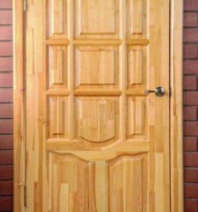 Входные утеплённые деревянные двери