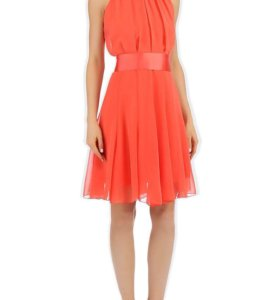 Новое персиковое платье