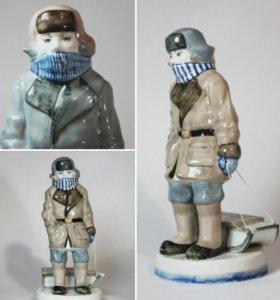"Фарфоровая статуэтка "" зима"""