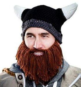 Шапка с бородой. Викинг.