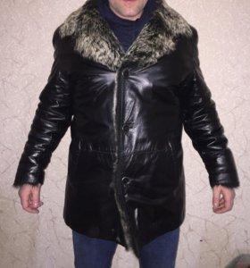 Куртка зимняя натуральная волк