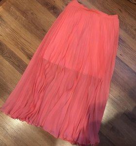 Плиссированная шифоновая юбка