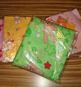 Простыни на резинке,одеяла,пледы,кпб детские