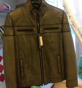 Новая мужская кожаная куртка