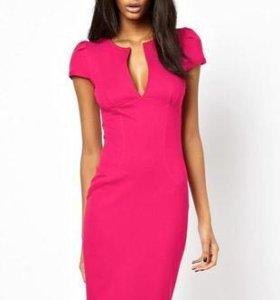 Платье асос розовое