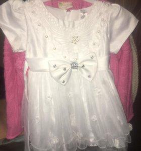 Нарядное платье 86-92р