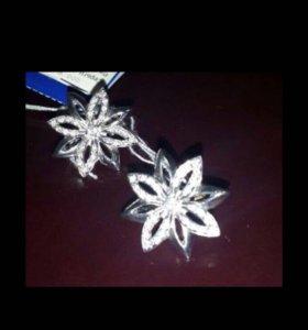 Новые серёжки, серебро 925 пробы