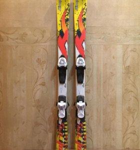 Продам детские горные лыжи и ботинки