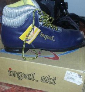 Новые лыжные ботинки,утепленные