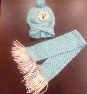 Детские Шапка и шарф ручной работы ( комплект)