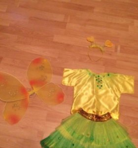 Новогодний костюм феи,бабочки на 3-5 лет