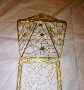 Елка-коробочка металл