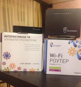 Комплект оборудования интернет ТВ Ростелеком