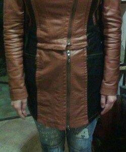 Куртка-пальто кожанная