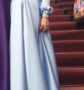 Нежно-голубое платье 🌸