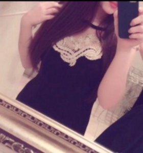 Новое , чёрное платье