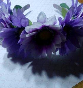 Ободок с цветами 🌷