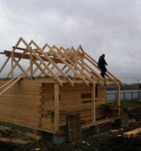 строительство крыш домов и бань;фронтонов