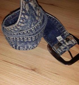 Ремень джинсовый