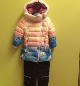 Комплект зимний новый пальто куртка размер 98