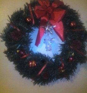 Рождественские венки (ручная работа)