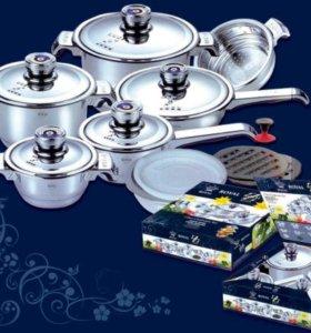 Новый набор посуды из 17 предметов