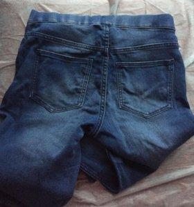 H&M джинсовые лосины,джинсы