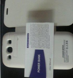 Чехол-зарядка на Galaxy S3