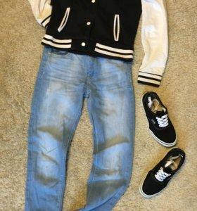 Бомбер джинсы vans
