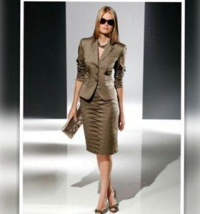 Костюм юбка блейзер - пиджак бонприкс