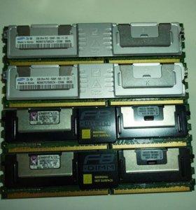 Серверная озу FB-DIMM Kingston и Samsung 12Gb