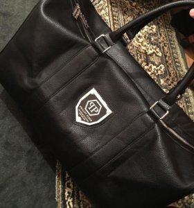 дорожная кожаная сумка PHILIP PLEIN