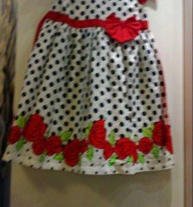 Платье хлопок 116-128 размер