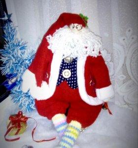 Интерьерная игрушка в стиле Тильда.  Санта Клаус
