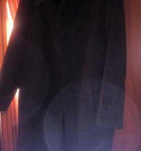 Пальто драповое зимнее мужское.