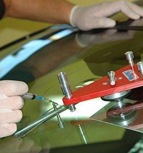 Ремонт сколов и трещин на лобовом стекле.