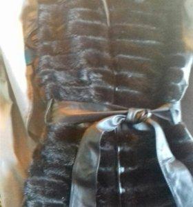Норковая жилетка