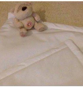 Одеяло в кроватку. Подушка в кроватку