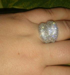 Кольцо серебро 925 проба 18размер.