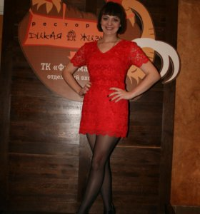 Вечернее гипюровое платье, 46 р-р