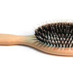 Расческа для нарощенных волос из натуральной щетин