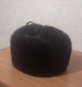 Шапка-ушанка (полная) мужская норковая