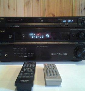 Ресивер 5.1pioneer VSX-417sk+ DVD pioneer DV-410vk