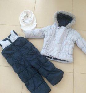 Полукомбинезон /куртка + брюки +балаклава / хлопок