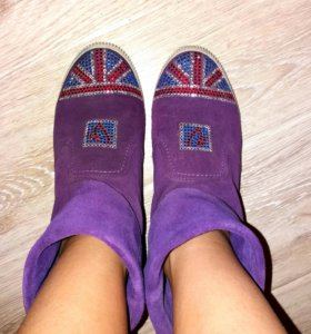 Ботиночки замшевые