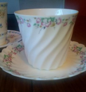 Чашка с блюдцем ЛФЗ костяной фарфор